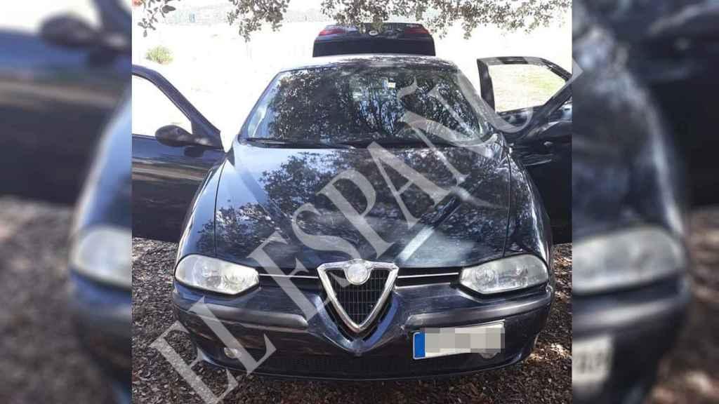 El Alfa Romeo negro con el que Bernardo se movió por el lugar del crimen de Laura