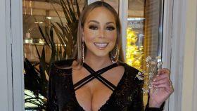 Mariah Carey en el restaurante Amazónico de Madrid.