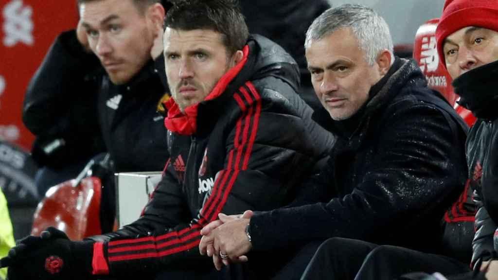Carrick y Mourinho