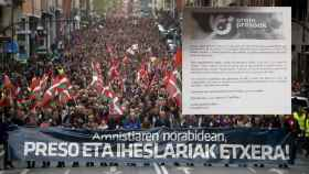Manifestación a favor de los presos de ETA en Bilbao, en una imagen de archivo.