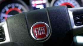 El volante de un Fiat.