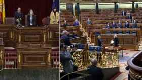 Congreso casi vacío durante el minuto de silencio en memoria de Laura Luelmo