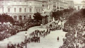 Celebración en Madrid del segundo centenario de la muerte de Calderón de la Barca.