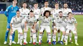 Los once jugadores titulares del Real Madrid ante el Kashima