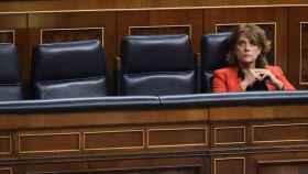 La ministra de Justicia, Dolores Delgado, en el Congreso./