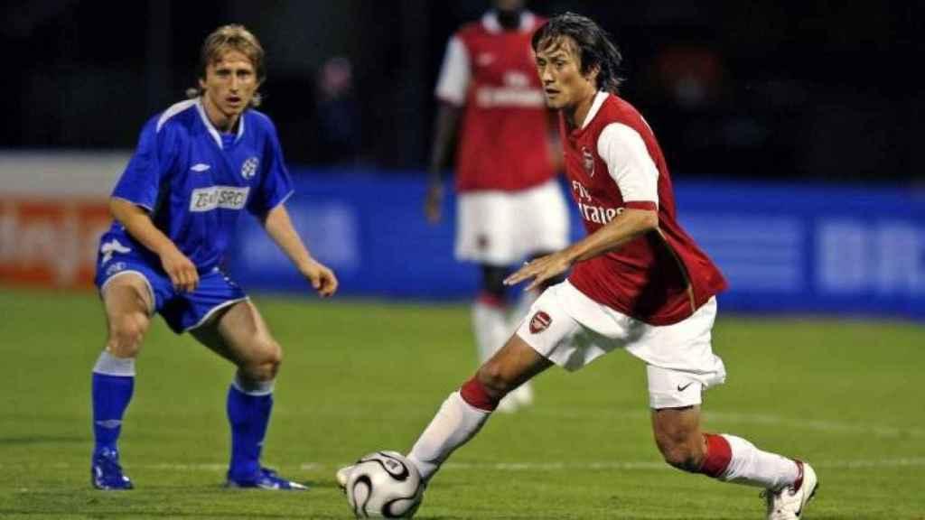 Modric en el Dinamo de Zagreb.