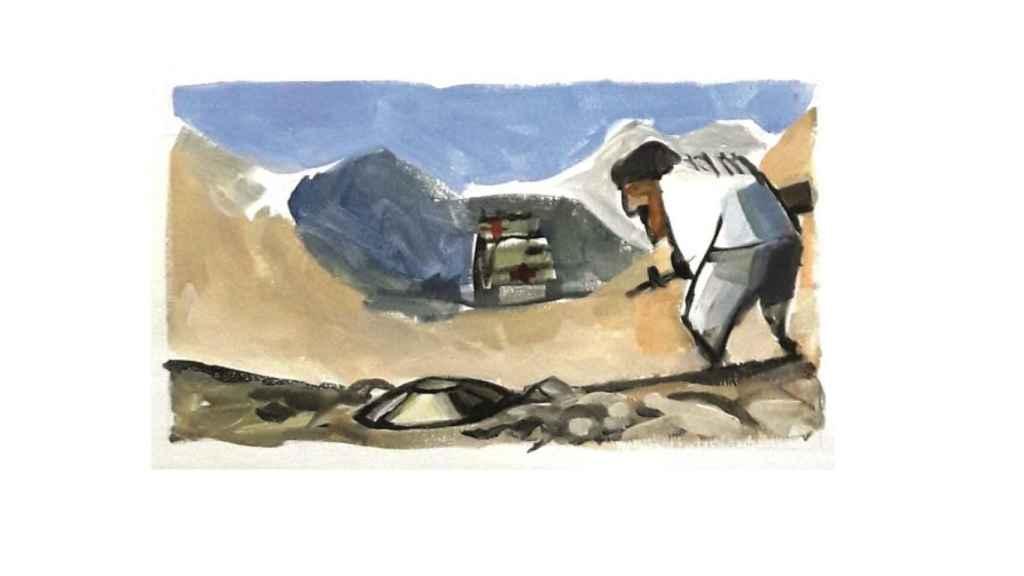 La mina que acabó con la vida de Idoia Rodríguez estaba oculta en un camino de Shindand.
