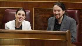 Irene Montero y Pablo Iglesias en una imagen de archivo.