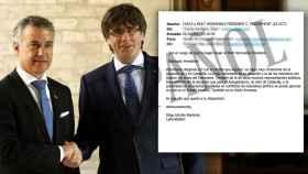 Urkullu planteó a Puigdemont una estrategia común en sus correos.