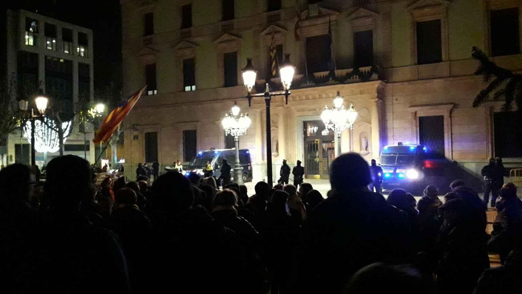 Manifestación en Lérida contra el régimen del 78.