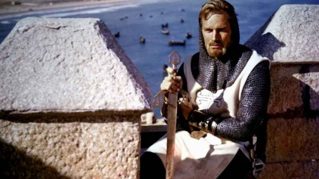 El actor Charlton Heston dando vida al Cid Campeador.