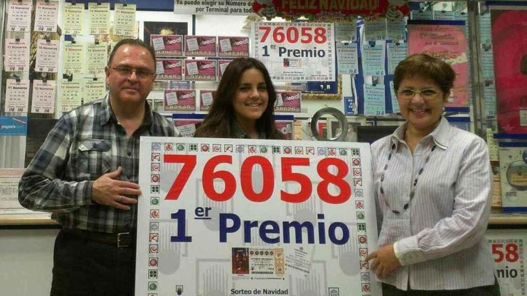 El matrimonio malagueño repartió El Gordo en 2012 con el número 76058