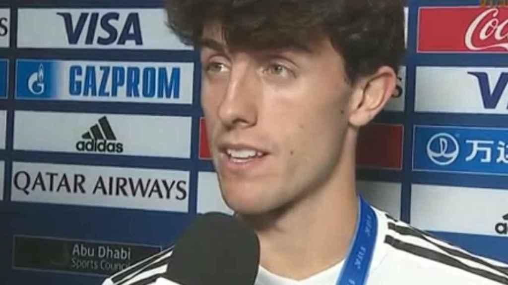 Álvaro Odriozola comparece tras ganar el Mundial de Clubes