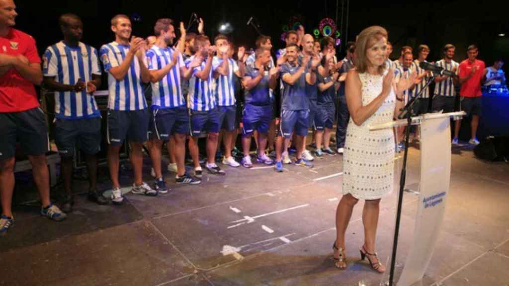 Victoria Pavón, presidenta del Leganés, en un acto. Foto: cdleganés.com