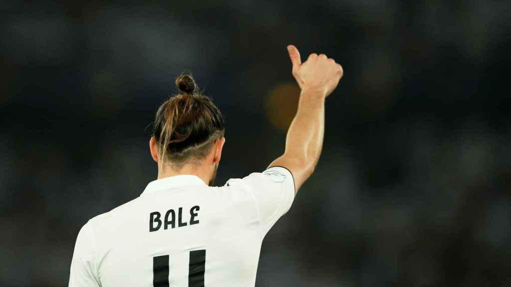 Gareth Bale, a punto de marcar de chilena ante el Al Ain