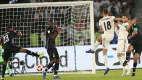Marcos Llorente dispara a puerta para marcar su primer gol