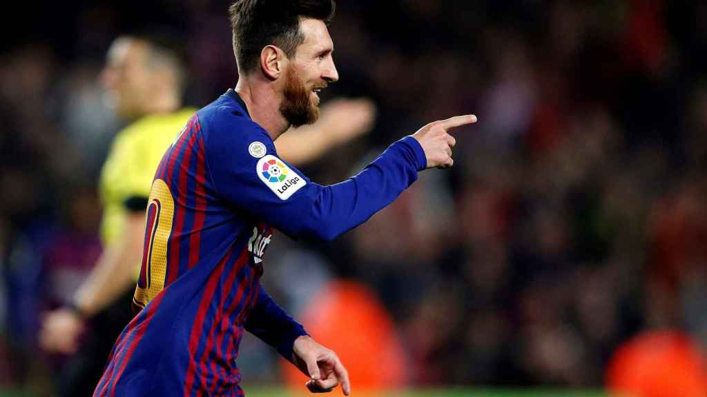Messi en el partido frente al Celta de Vigo