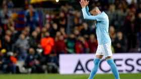 Iago Aspas se retira del Camp Nou en el Barcelona - Celta