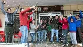 Vecinos de Zamora celebran el Gordo