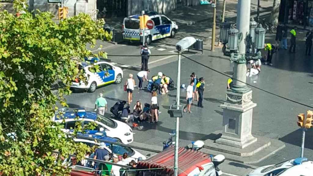 Imagen de archivo del atentado de Las Ramblas el 17-A.