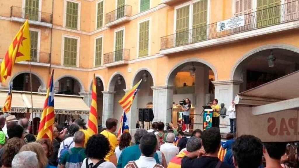 Concentración independentista en Palma.