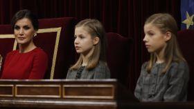 La reina Letizia, Leonor y Sofía en una imagen de archivo.
