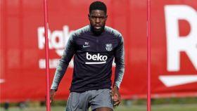 Samuel Umtiti, entrenando con el Barcelona. Foto: fcbarcelona.es