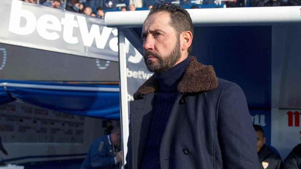 Pablo Machín, entrenador del Sevilla, durante el partido ante el Leganés