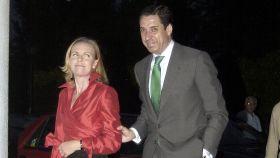 Eduardo Zaplana y su mujer, Rosa Barceló, en una foto de archivo (2003).