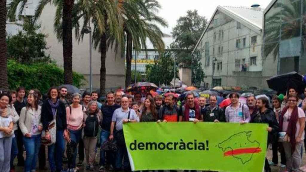Una concentración independentista en Palma de Mallorca