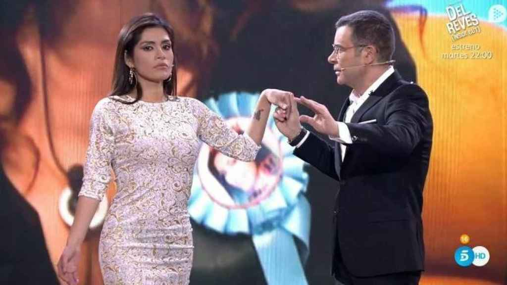 Jorge Javier junto a Miriam, 'la presidenta' de Perú.
