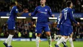 Eden Hazard celebra un gol con el Chelsea