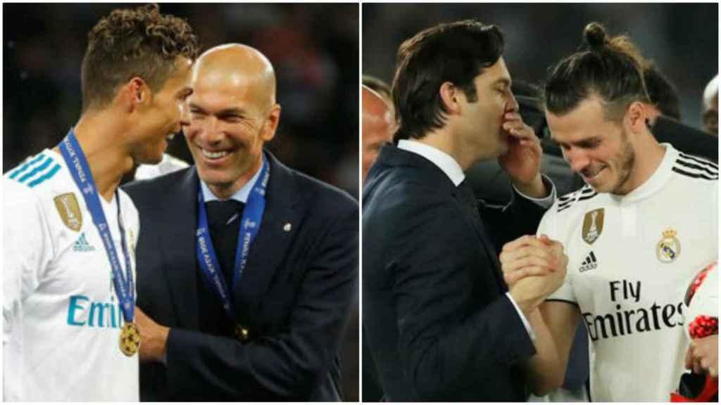 Zidane y Cristiano, frente a Solari y Bale