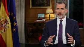 El Rey Felipe VI pronuncia el tradicional mensaje de Navidad, el quinto de su reinado, desde el Palacio de La Zarzuela.