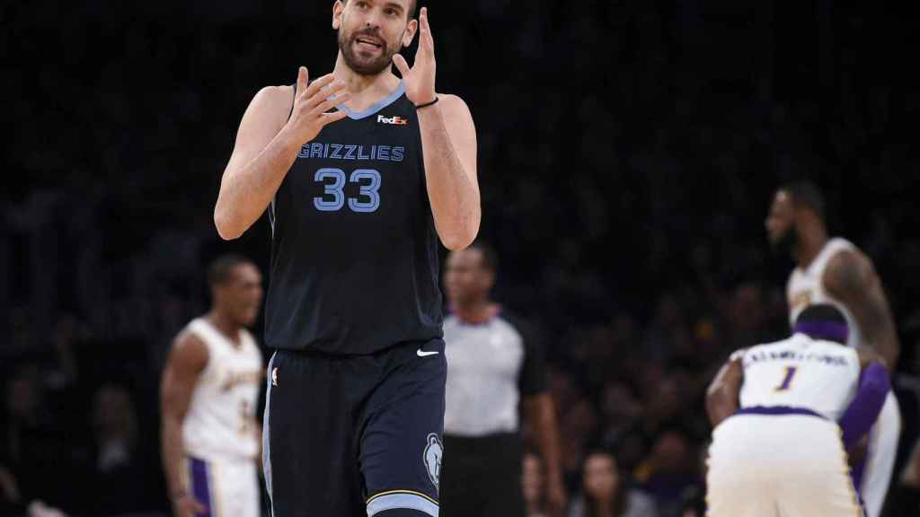 Marc Gasol en Los Angeles Lakers - Memphis Grizzlies