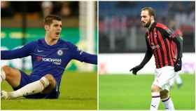 Chelsea y Milan, intercambio Morata - Higuaín