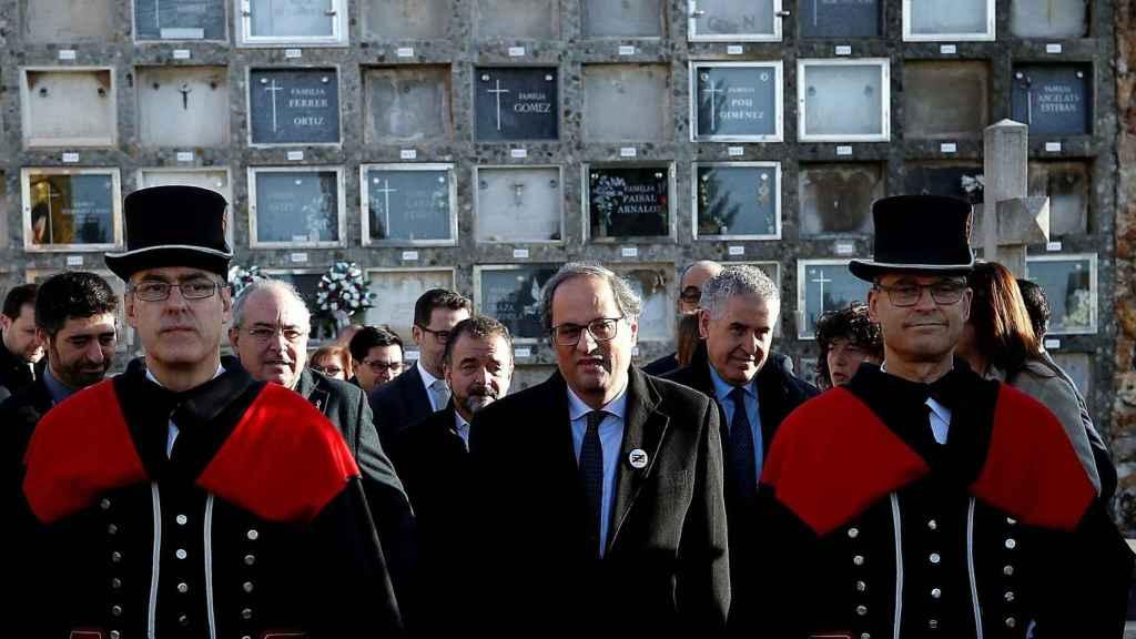 Torra exige a Sánchez una comisión internacional que medie entre los gobiernos de Cataluña y España