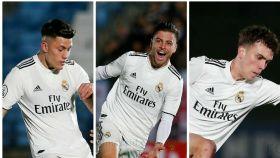 Varios jugadores del Castilla