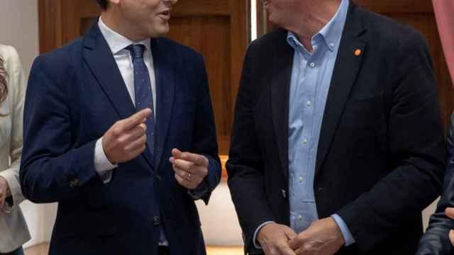 Juanma Moreno y Juan Marín, líderes de PP y Cs en Andalucía, respectivamente.