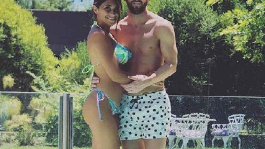 Messi y su mujer Antonella Roccuzzo. Foto: Instagram (@leomessi)