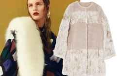 Modelo posa con el abrigo de la nueva colección de Sfera