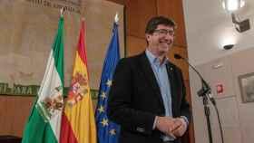 Juan Marín, líder de Ciudadanos en Andalucía, al explicar el pacto con el PP, que engloba a Vox y Adelante Andalucía.