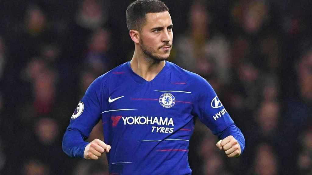 Hazard en un encuentro con el Chelsea
