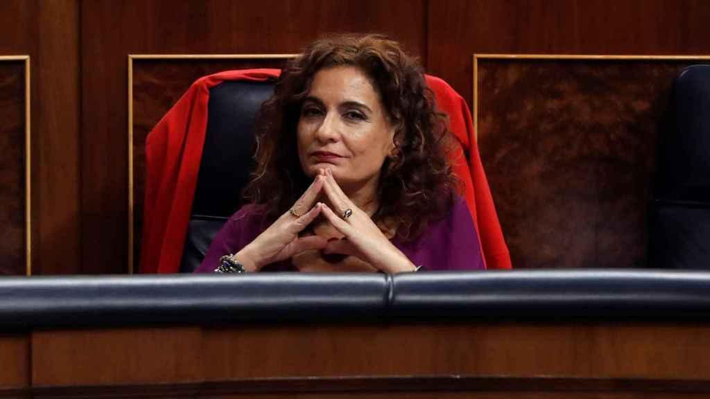 María Jesús Montero, en su escaño del Congreso.