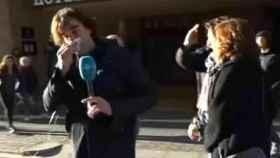 El periodista Cake Minuesa tras la agresión sufrida en Barcelona.