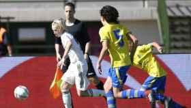 Daniel Gudjohnsen en un partido con el Infantil B. Foto: laliga.es