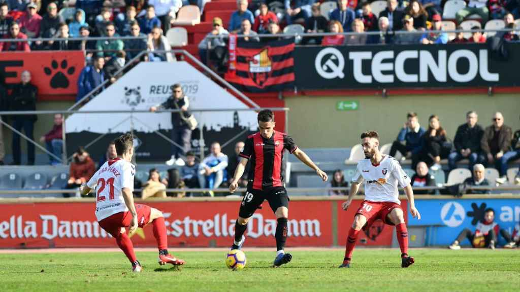 Último partido del Reus frente al Osasuna. Foto: Twitter (@cfreusdeportiu)