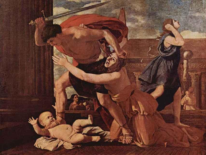 La masacre de los inocentes de Poussin.