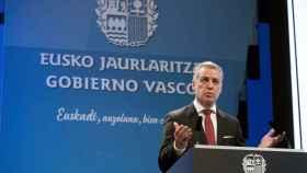 Íñigo Urkullu, durante la recepción de Navidad en la sede del Gobierno vasco.