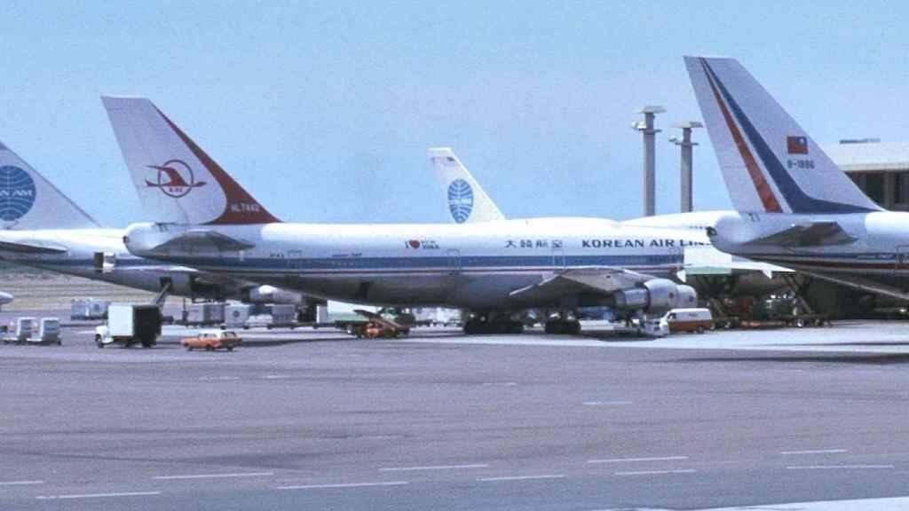 El avión de Korean Air Lines HL7442 que fue derribado.